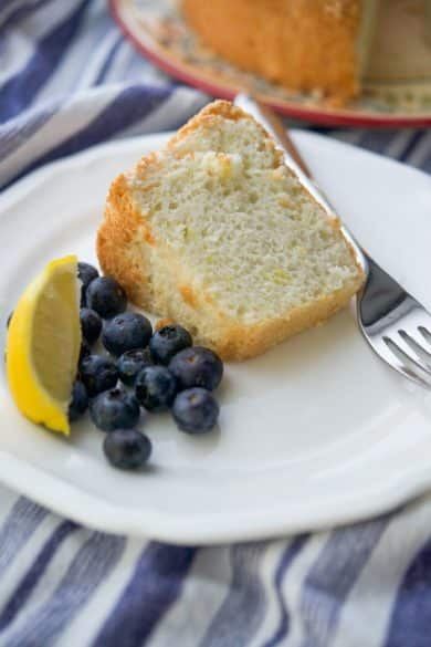 This airy Lemon Angel Food Cake is a deliciously light dessert that tastes great with fresh berries, it will definitely satisfy your sweet tooth.