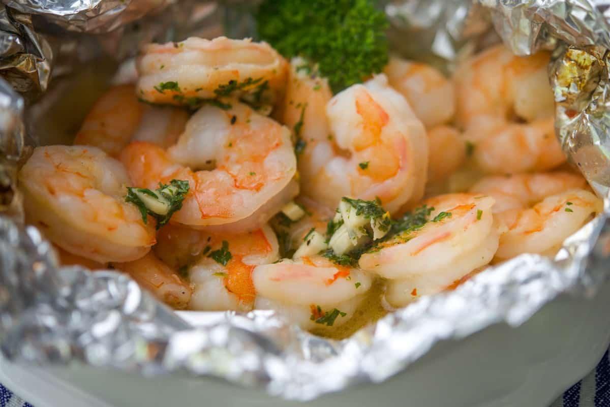 Shrimp Scampi Foil Pack