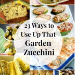 Summer is almost over and garden zucchini is in abundance. Here are 23 zucchini recipes to help you use up your bounty.