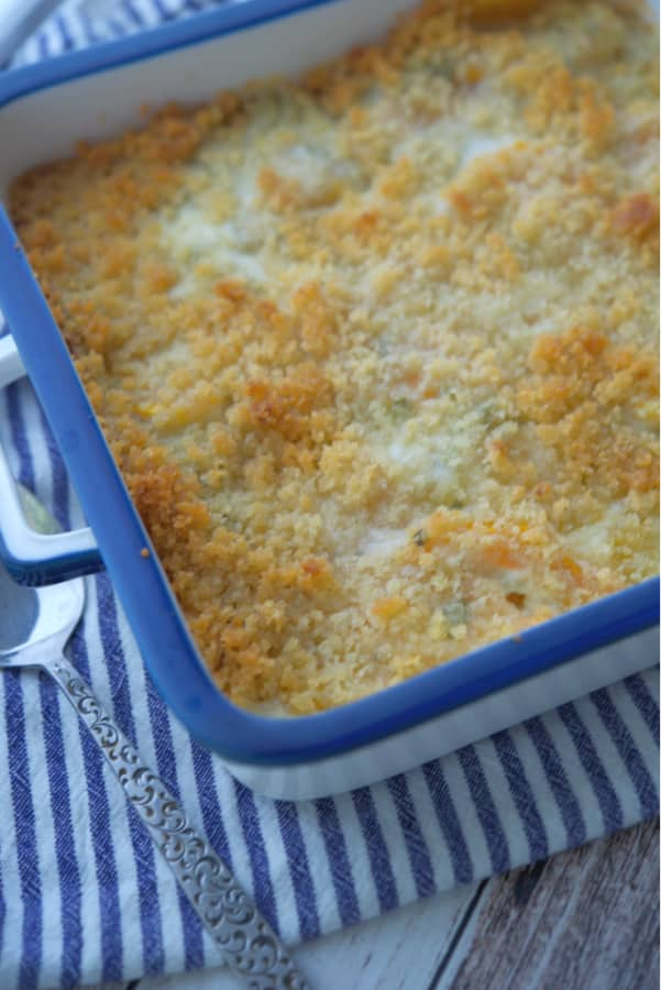 Butternut Squash Gratin made with fresh sage, grated Pecorino Romano cheese and a buttery Panko crumb topping is super creamy and makes the perfect Fall side dish.
