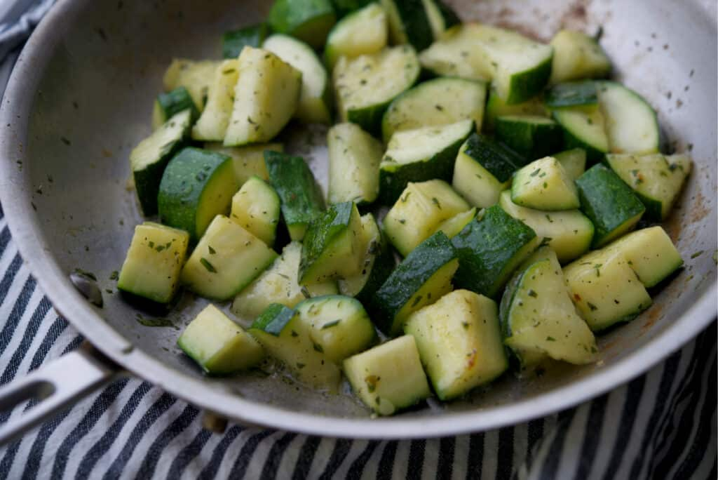 Skillet Zucchini in Rosemary Butter