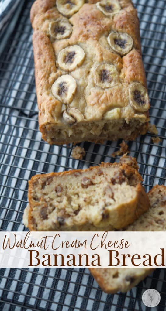 This Walnut Cream Cheese Banana Bread with our secret ingredient, is super moist and satisfying for breakfast or an afternoon snack.