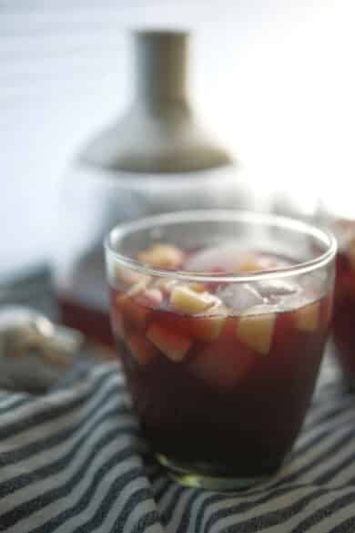 If you're looking for a new Fall cocktail, this Fireball Apple Sangria made with five ingredients is a must try.