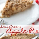 Change up your ordinary apple pie with this version made with a sour cream apple filling topped with buttery streusel.