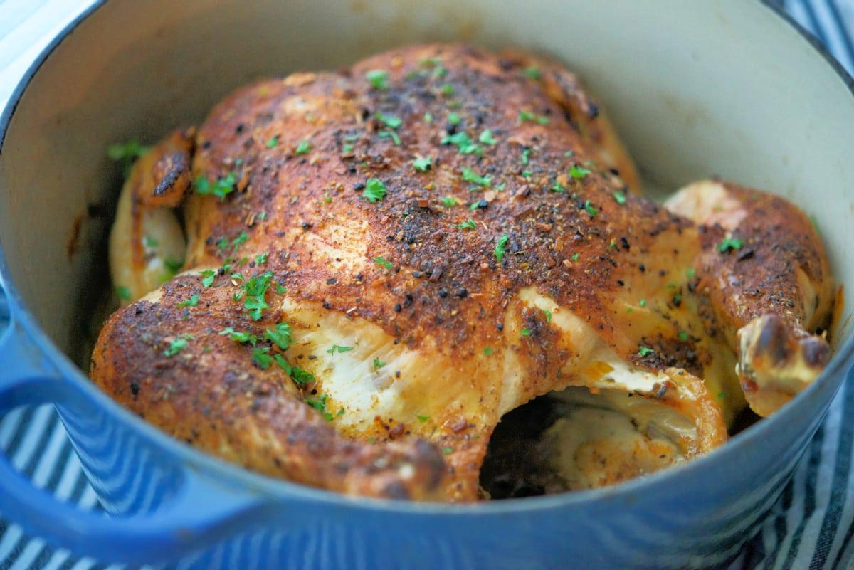 Whole Roasted Cajun Chicken