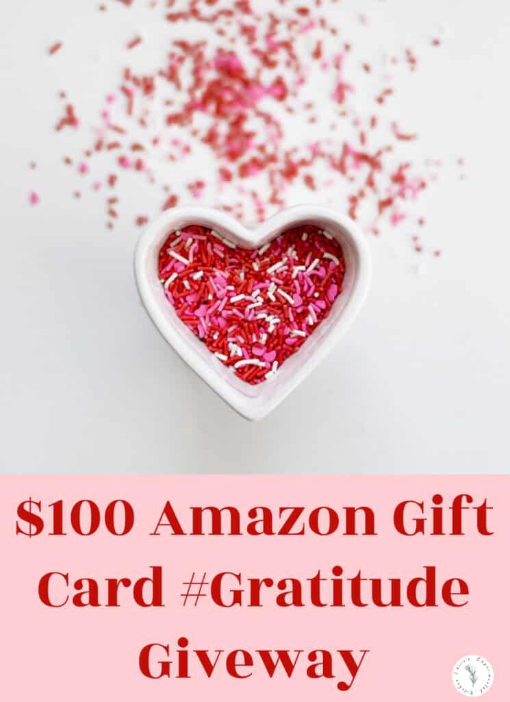 $100 Amazon Gift Card #Gratitude Giveaway