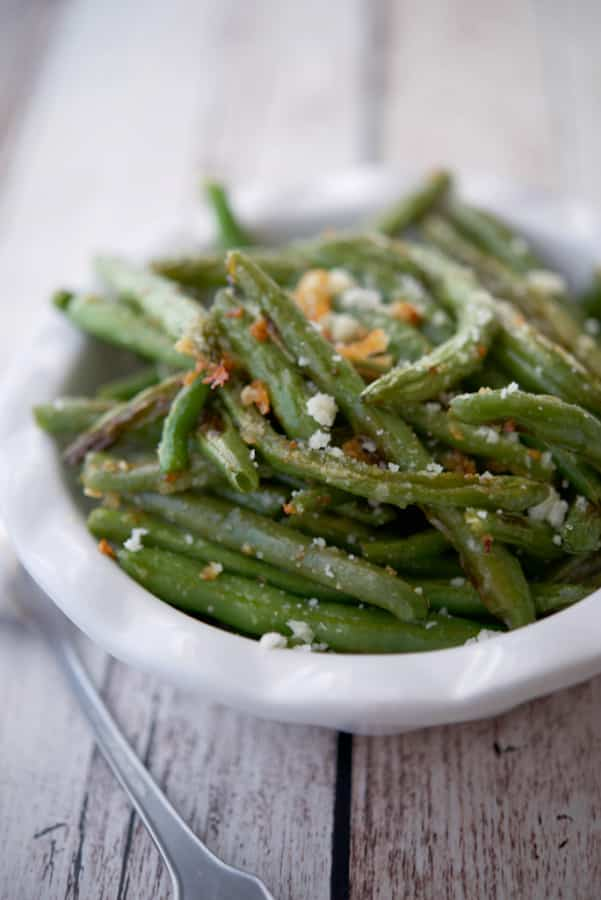 Parmesan Roasted Green Beans go perfectly with any meal.