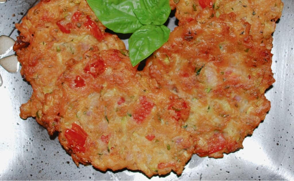 Greek Tomato Zucchini Fritters