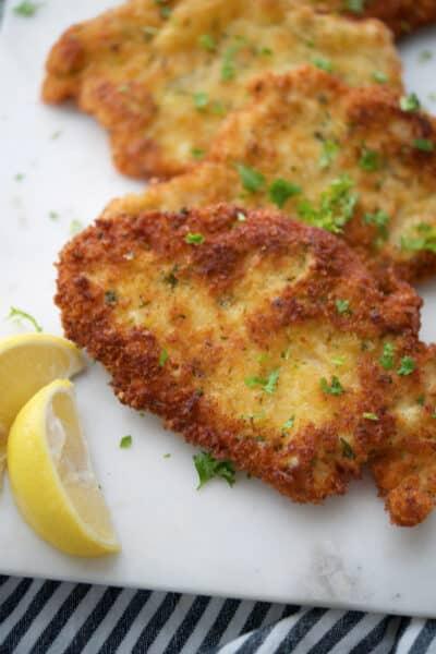 Lemon Basil Breaded Chicken Cutlets