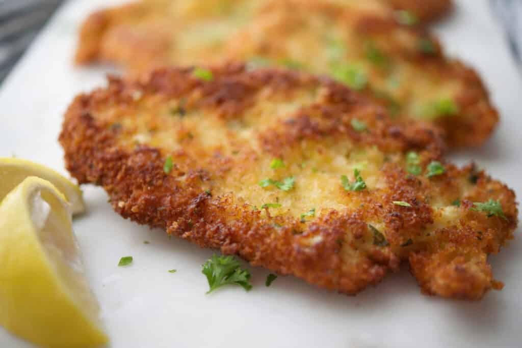 Lemon Basil Panko Chicken Cutlets