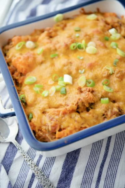 Taco Sweet Potato Casserole with Ground Beef