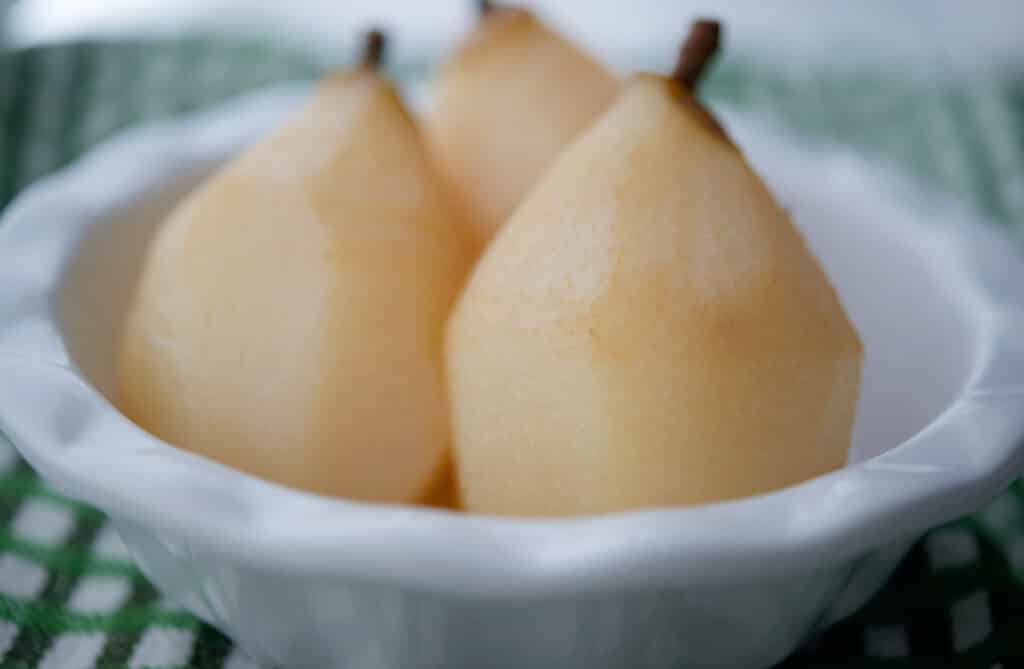 3 Tequila Poached Pears