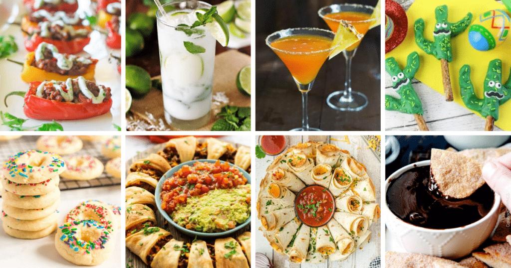 Cinco de Mayo Party Recipes collage