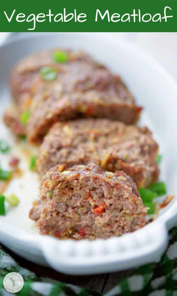 Vegetable Meatloaf made with lean ground beef, Knorr Vegetable Mix, eggs and Panko breadcrumbs is super flavorful and easy to make.