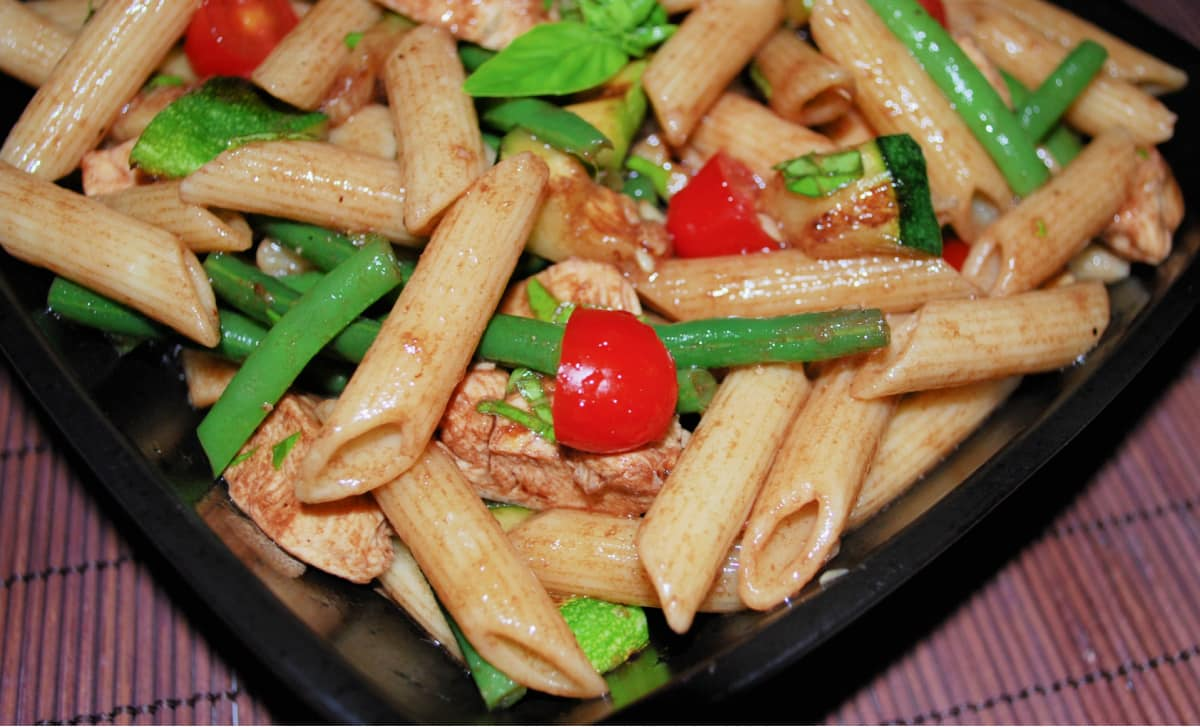 Cold Chicken and Vegetable Pasta Salad