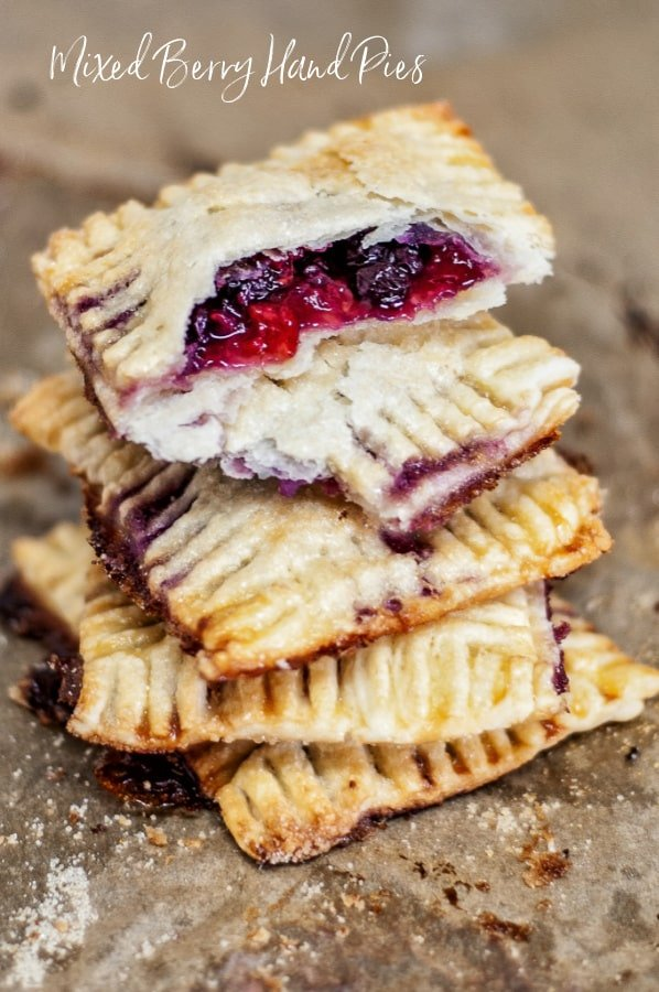 Hand pies made with three kinds of berries.