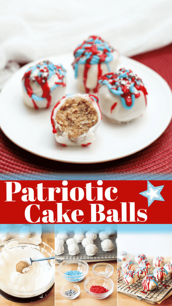 These cake balls are a super fun, easy treat for the kids to make to celebrate all of the USA's patriotic holidays.