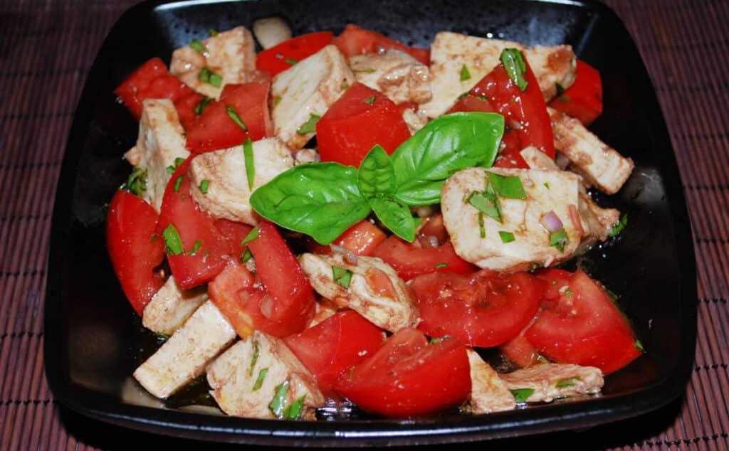 Tomato and Fresh Mozzarella Salad in a bowl