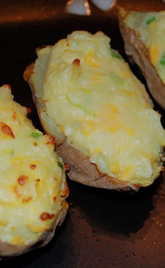 Twice Baked Potatoes on a plate.