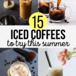 Iced Coffee Collage for summer