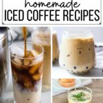 Iced Coffee Recipes Collage