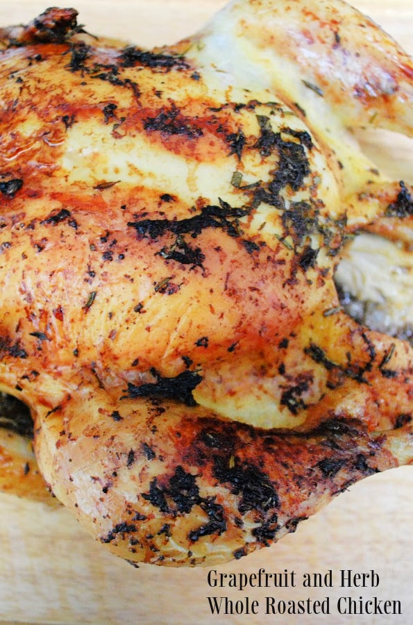 Whole Roasted Chicken with grapefruit and herbs