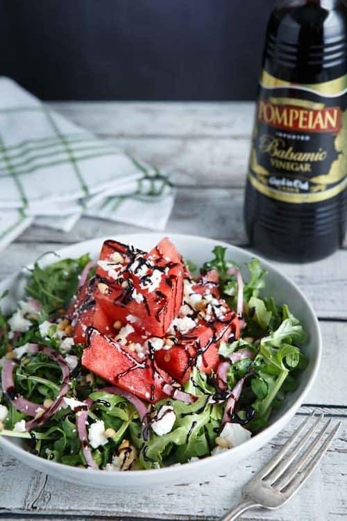 Watermelon Arugula Feta Salad