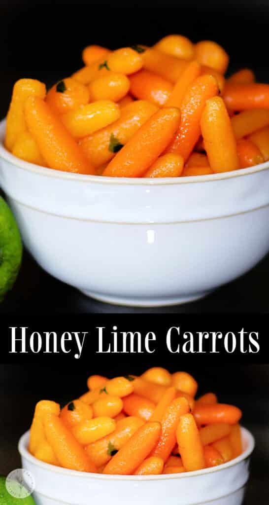 Honey Lime Glazed Carrots made with fresh carrots tossed with honey, butter and fresh lime juice are a tasty vegetable side dish.