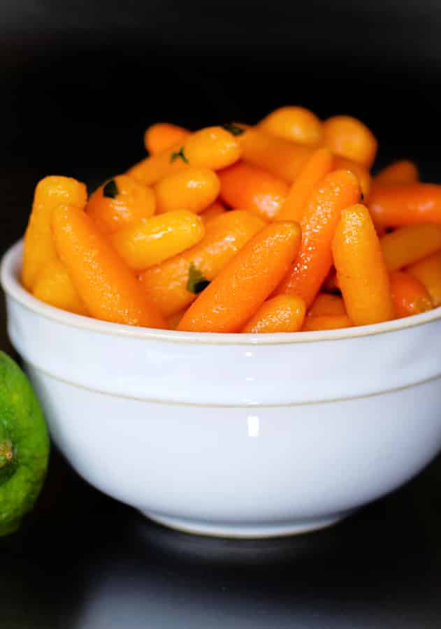 Honey Lime Carrots in a bowl