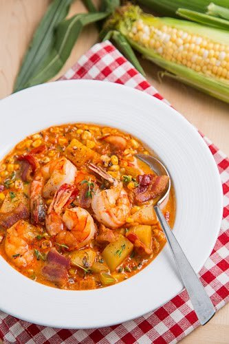Shrimp Roasted Corn Chowder