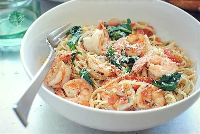 Shrimp pasta lemon