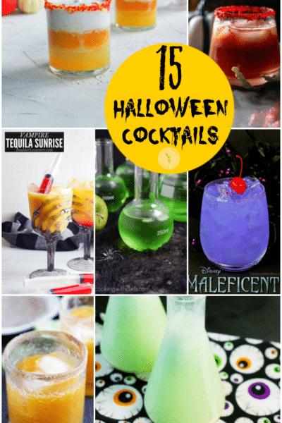 Halloween Cocktails collage photo