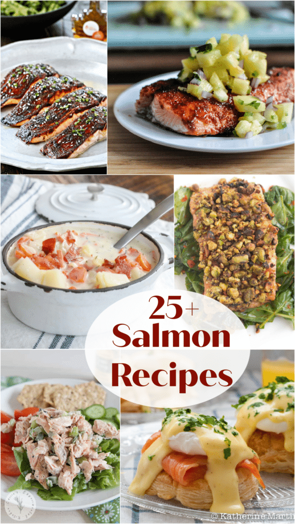25 Salmon Recipes collage large