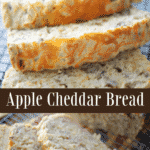 Apple Cheddar Bread made with shredded apples, pecans, cinnamon and Cheddar cheese is a delicious quick bread that's chewy and not overly sweet.