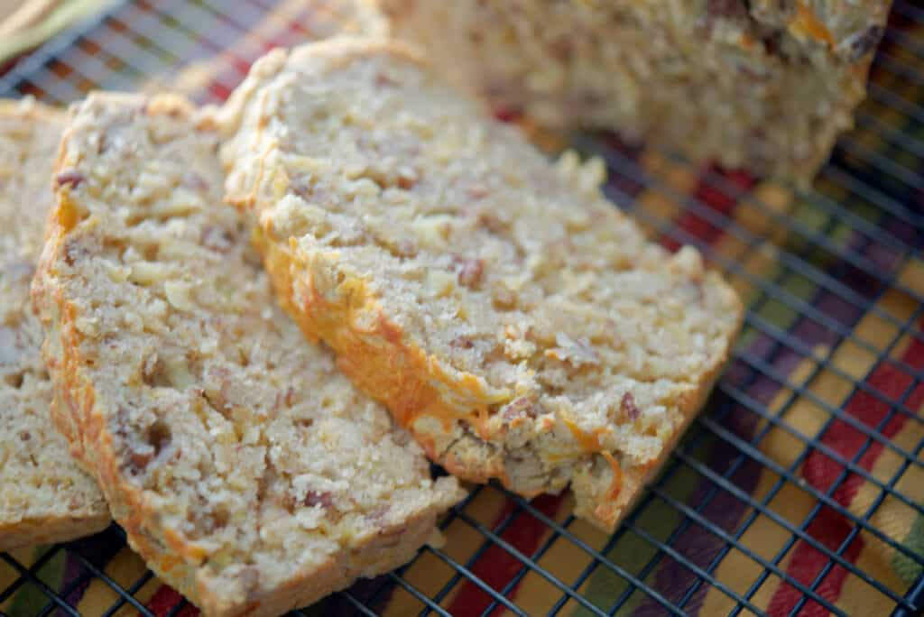 Apple Cheddar Bread Sliced