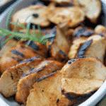 Boneless chicken breasts marinated in honey, Dijon mustard and balsamic vinegar.