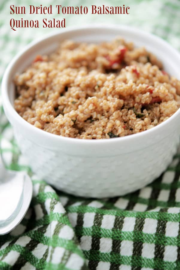 Quinoa Salad with sun dried tomatoes