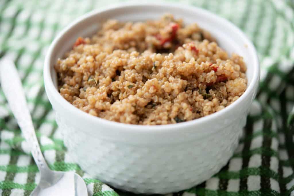 Sun Dried Tomato Balsamic Quinoa Salad