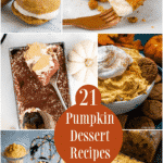 Pumpkin has taken over the world and there are so many different desserts you can make.Here are 21 Pumpkin Desserts to make this fall!