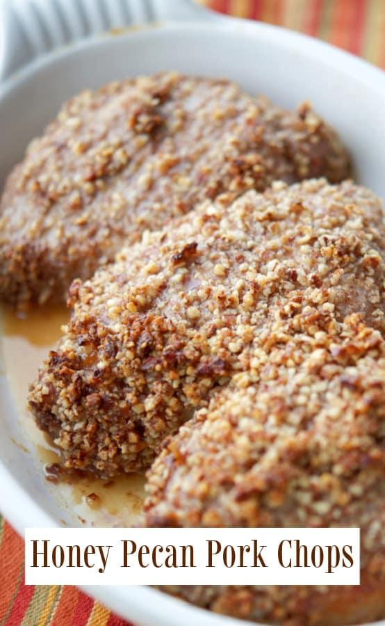 Baked Honey Pecan Pork Chops