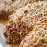 Three ingredients are all you need to make these deliciously flavorful, quick and easy Honey Pecan Baked Pork Chops.