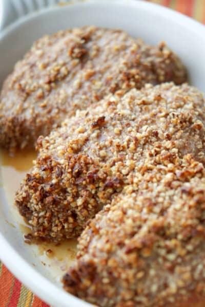 Honey Pecan Baked Pork Chops