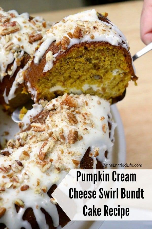 Pumpkin Cream Cheese Swirl Bundt Cake
